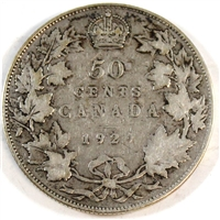 1929 Canada 50-cents Very Good (VG-8)