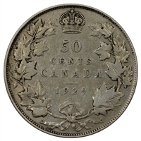 1929 Canada 50-cents VG-F (VG-10)
