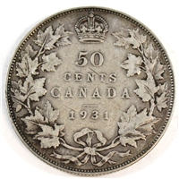 1931 Canada 50-cents VG-F (VG-10)