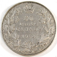 1934 Canada 50-cents F-VF (F-15) $