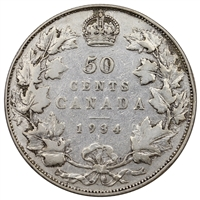 1934 Canada 50-cents VG-F (VG-10)