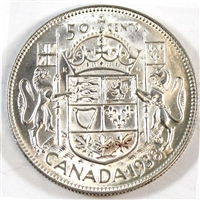 1938 Canada 50-cents Almost Uncirculated (AU-50)