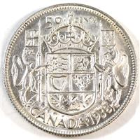 1938 Canada 50-cents Extra Fine (EF-40)