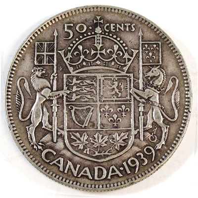 1939 Canada 50-cents Very Fine (VF-20)