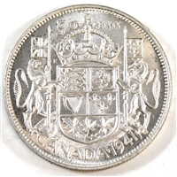 1941 Canada 50-cents Brilliant Uncirculated (MS-63) $