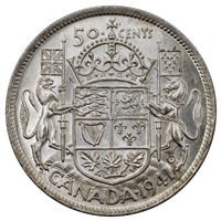 1941 Canada 50-cents Uncirculated (MS-60)