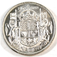 1942 Canada 50-cents Brilliant Uncirculated (MS-63) $