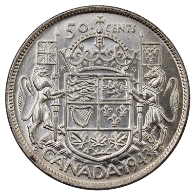 1943 Canada 50-cents Uncirculated (MS-60)