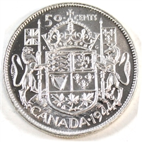 1944 Near 4 Canada 50-cents Brilliant Uncirculated (MS-63)