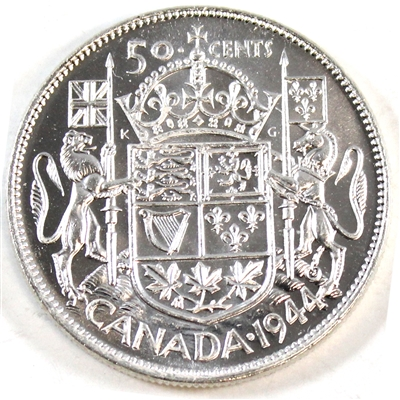1944 Near 4 Canada 50-cents Brilliant Uncirculated (MS-63) $