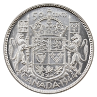 1944 Canada 50-cents UNC+ (MS-62)