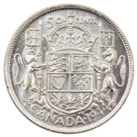1944 Canada 50-cents Uncirculated (MS-60)