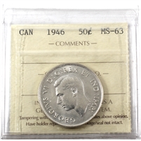 1946 Canada 50-cents ICCS Certified MS-63 (XJM 780)