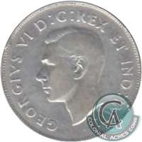 1947 Curved 7 Canada 50-cents F-VF (F-15)