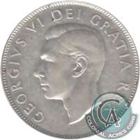 1947 Curved 7 Canada 50-cents VF-EF (VF-30)