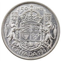 1947 Maple Leaf Canada 50-cents EF-AU (EF-45)