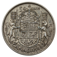 1947 Maple Leaf Canada 50-cents VF-EF (VF-30) $