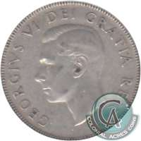 1947 Straight 7 Canada 50-cents Circulated