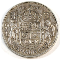 1947 Straight 7 Canada 50-cents VF-EF (VF-30)
