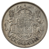 1948 Canada 50-cents F-VF (F-15)