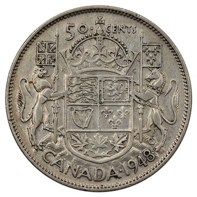 1948 Canada 50-cents F-VF (F-15) $