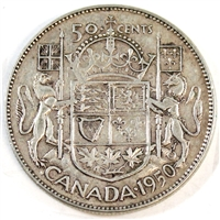 1950 Canada 50-cents Very Fine (VF-20)
