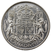1952 Canada 50-cents Almost Uncirculated (AU-50)