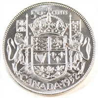 1952 Canada 50-cents Choice Brilliant Uncirculated (MS-64)