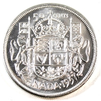 1957 Canada 50-cents Choice Brilliant Uncirculated (MS-64)