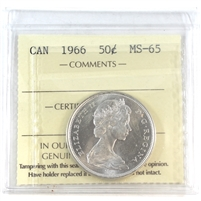 1966 Canada 50-cents ICCS Certified MS-65