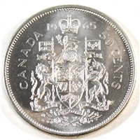 1965 Canada 50-cents Choice Brilliant Uncirculated (MS-64)