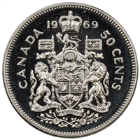 1969 Canada 50-cents Proof Like
