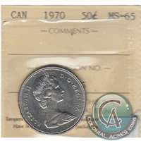 1970 Canada 50-cents ICCS Certified MS-65