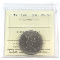 1976 Canada 50-cents ICCS Certified MS-66