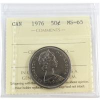 1976 Canada 50-cents ICCS Certified MS-65