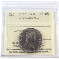 1977 Canada 50-cents ICCS Certified MS-65