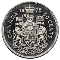 1978 Round Jewels Canada 50-cents Brilliant Uncirculated (MS-63)
