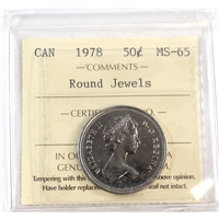 1978 Canada 50-cents ICCS Certified MS-65 Round Jewels