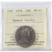 1978 Square Jewels Canada 50-cents ICCS Certified MS-65