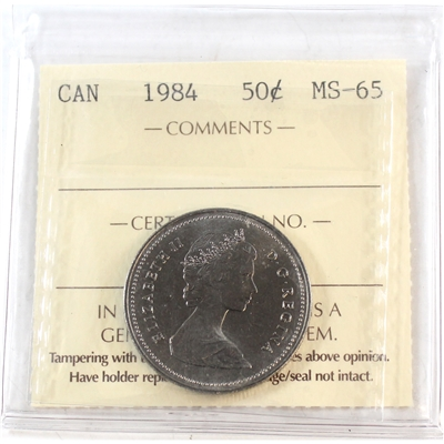 1984 Canada 50-cents ICCS Certified MS-65