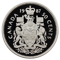 1987 Canada 50-cents Proof