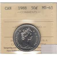 1988 Canada 50-cents ICCS Certified MS-65