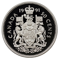 1991 Canada 50-cents Proof