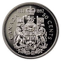 1992 Canada 50-cents Proof Like