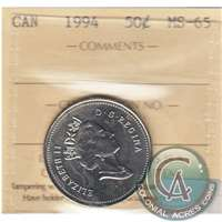 1994 Canada 50-cents ICCS Certified MS-65