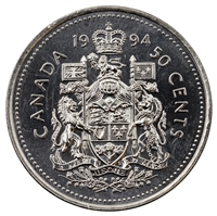 1994 Canada Dot In G 50-cents Brilliant Uncirculated (MS-63)