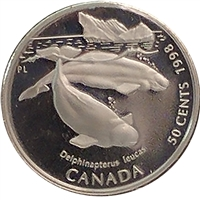1998 Canada Beluga Whale 50-cents Silver Proof