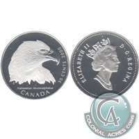 2000 Canada Bald Eagle 50-cents Silver Proof_