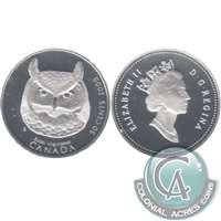 2000 Canada Great Horned Owl 50-cents Silver Proof_