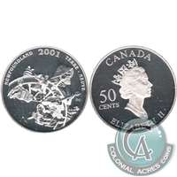 2001 Canada Newfoundland 50-cents Silver Proof_